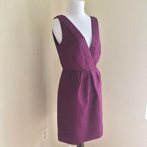 J.Crew Purple V Neck Sleeveless Dress NWT